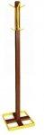 Wieszak stojący drewno/metal CLINT 3 kasztan/żółty