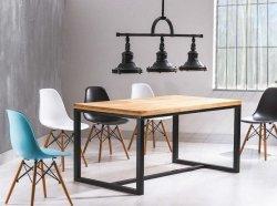 Stół LORAS A 180x90 lity dąb/czarny