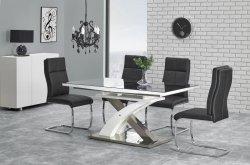 Stół rozkładany SANDOR 2 czarny/biały