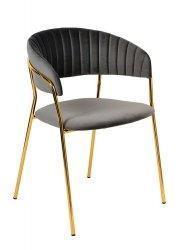 Krzesło MARGO ciemno szary/złoty
