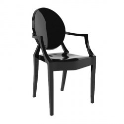 Krzesło LOUIS czarne