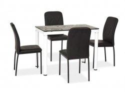 Stół DAMAR 100x60 czarny/biały