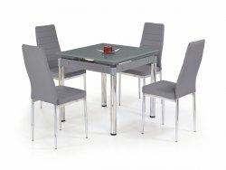 Stół rozkładany KENT popielaty/chrom