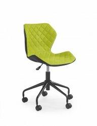Fotel młodzieżowy MATRIX zielono-czarny