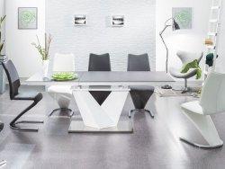Stół rozkładany ALARAS II 120(180)x80 czarno-biały