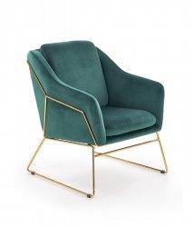 Fotel wypoczynkowy SOFT 3 ciemny zielony/złoty