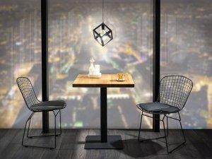 Stół PURO 60x60 okleina dąb/czarny