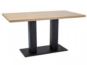 Stół SAURON 120x80 okleina dąb/czarny