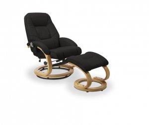 Fotel rozkładany z funkcją masażu i podgrzewania MATADOR czarny