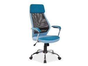 Fotel obrotowy tkanina/siatka Q336 niebieski