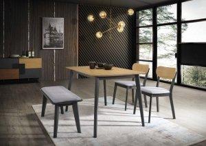 Stół VITRO dąb/grafit