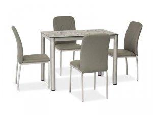 Stół szklany DAMAR 80x60 szary