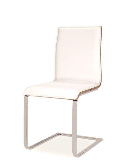 Krzesło H690 biały/dąb sonoma