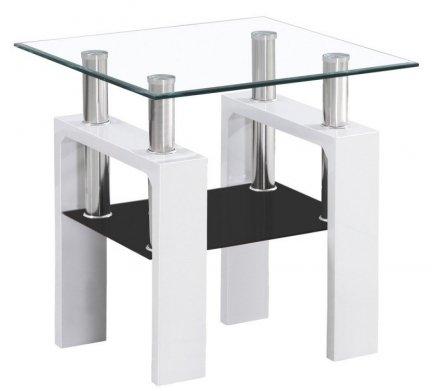 Ława szklana LISA D biała