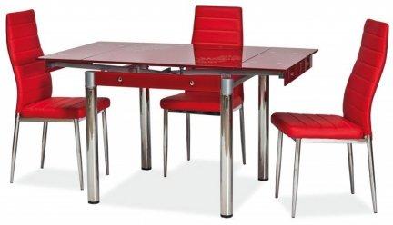 Stół szklany rozkładany GD-082 czerwony