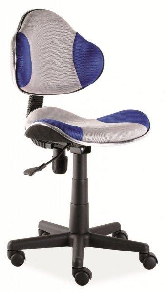 Fotel gabinetowy Q-G2 szaro-niebieski