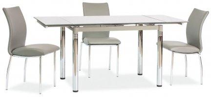 Stół szklany rozkładany GD-018 szary