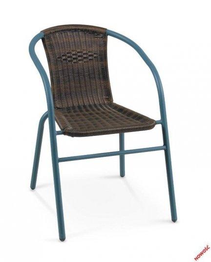 Krzesło ogrodowe GRAND 2 ciemnozielony/ciemny brąz