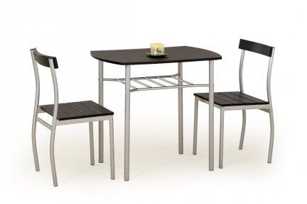 Zestaw LANCE stół + 2 krzesła wenge