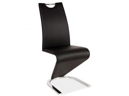 Krzesło H-090 czarne / chrom