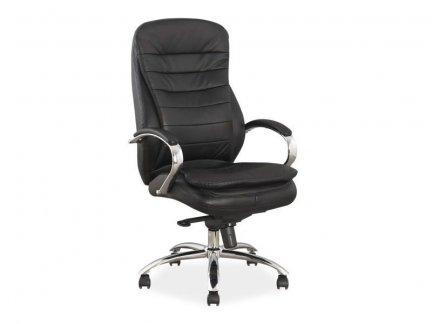 Fotel gabinetowy Q-154 skóra czarny