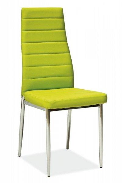 Krzesło metalowe H-261 zielone