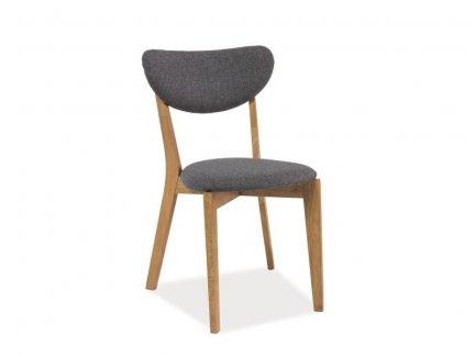 Krzesło ANDRE dąb/szary