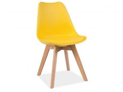 Krzesło KRIS dąb/żółty