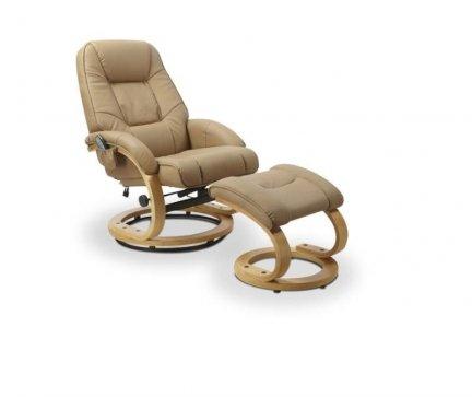 Fotel rozkładany z funkcją masażu i podgrzewania MATADOR beżowy