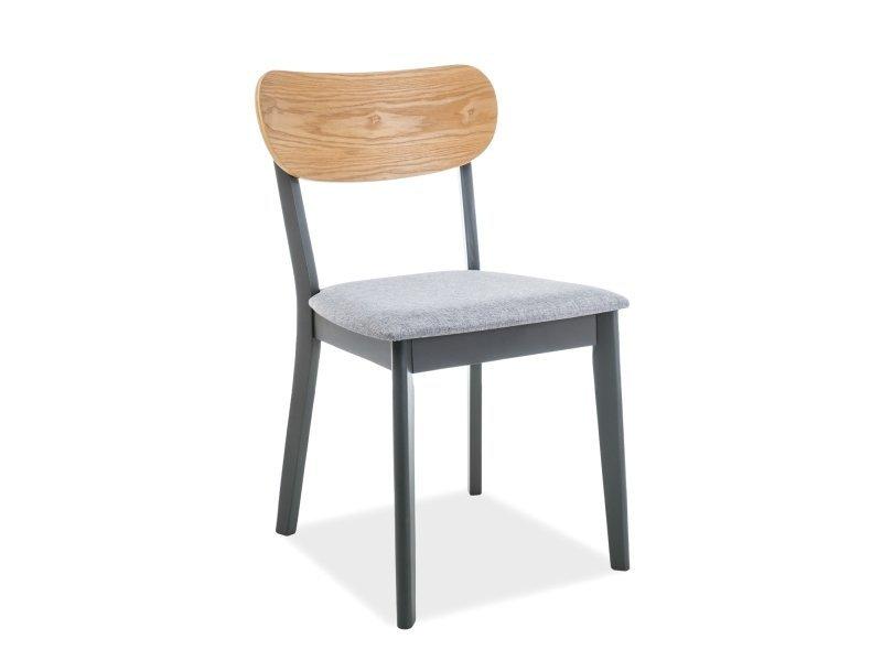 Krzesło VITRO grafit/dąb/szary