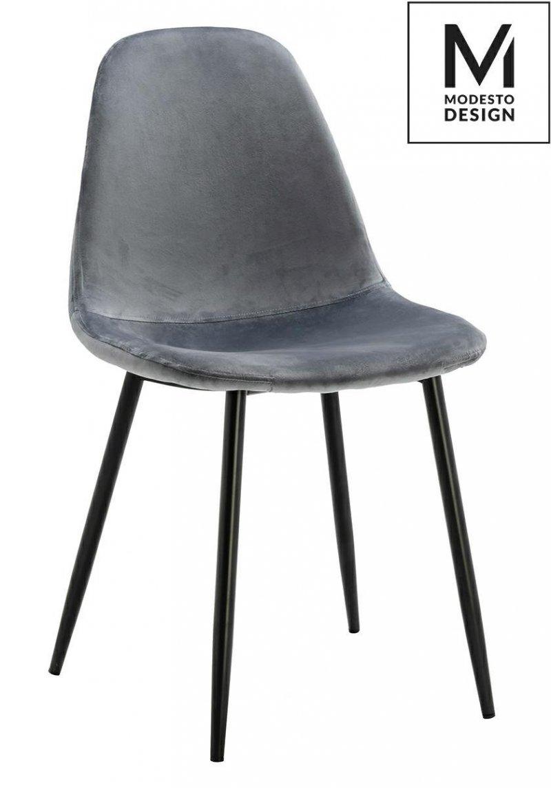 Krzesło LUCY szare-welur