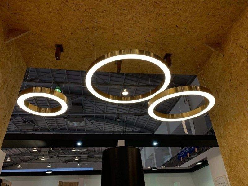 Lampa wisząca RING 40 złota