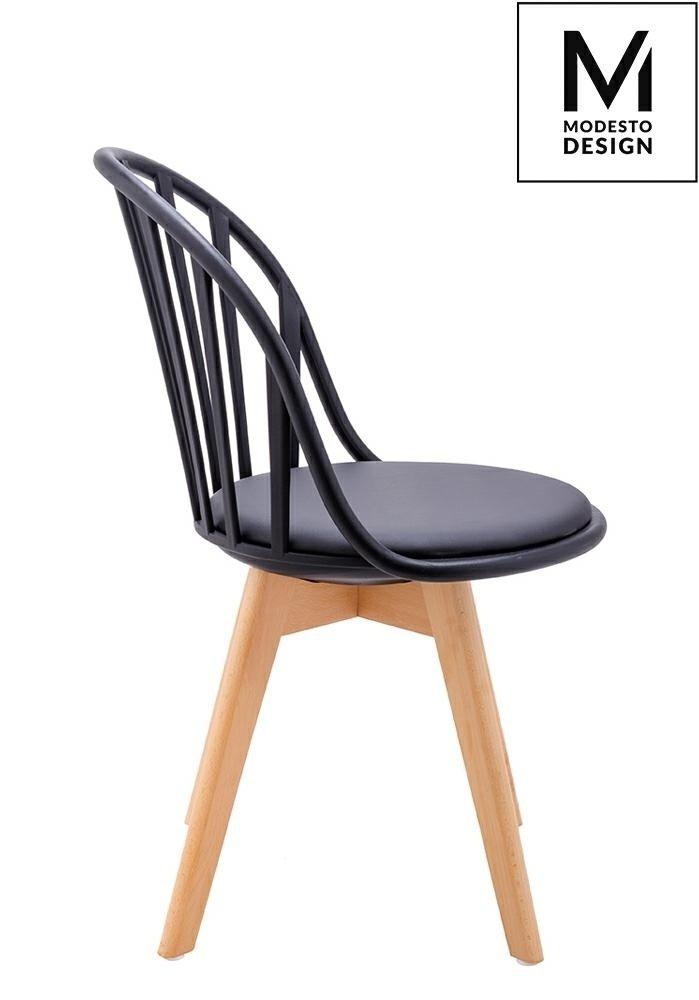Krzesło ALBERT czarne/buk