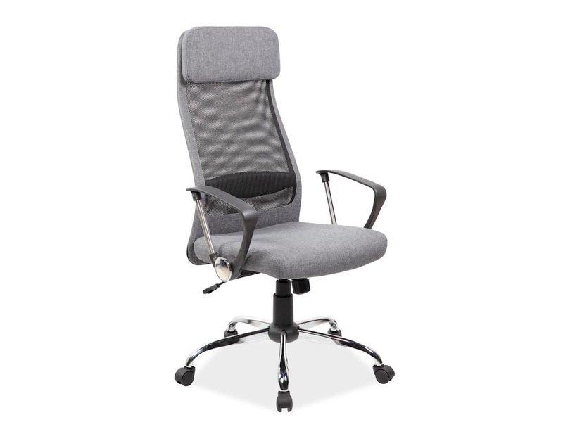Fotel obrotowy Q345 szary