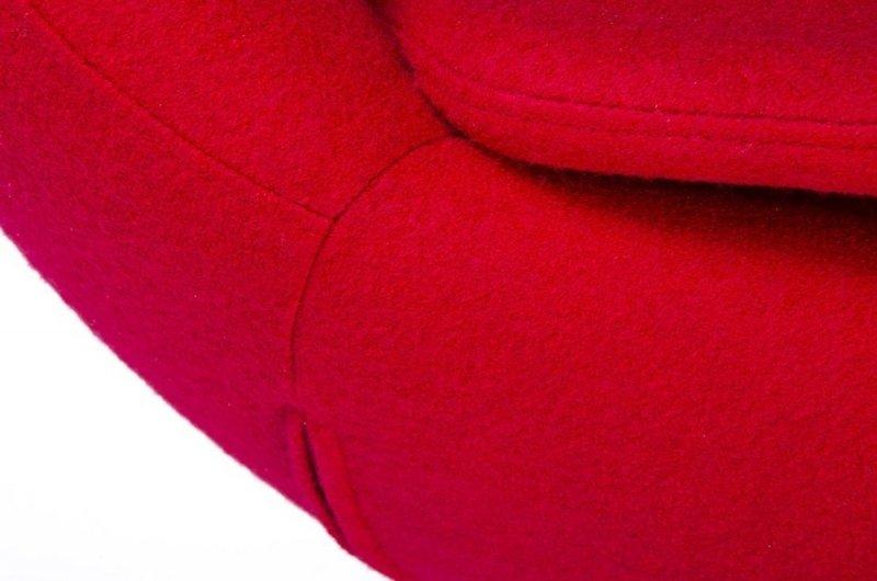 Fotel EGG SZEROKI czerwony