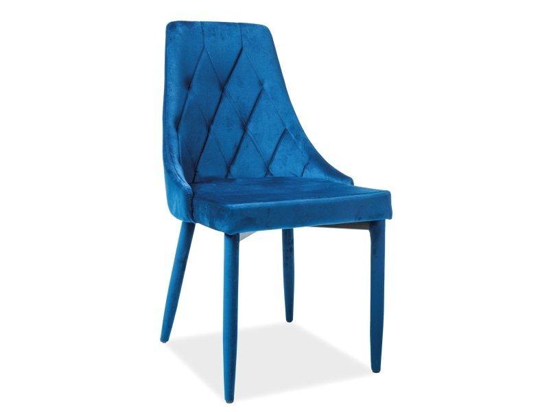 Krzesło TRIX VELVET granatowe