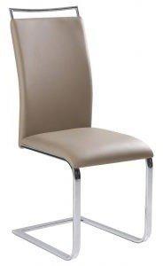 Krzesło H334 ciemno beżowe/chrom
