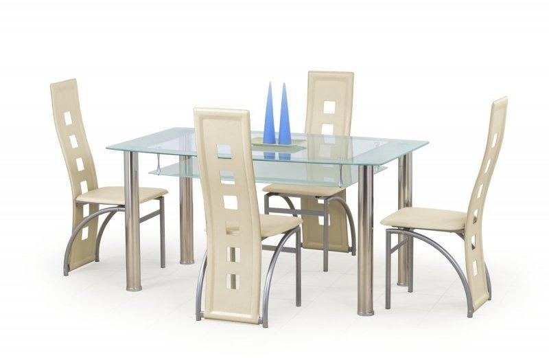 Stół CRISTAL bezbarwny/mleczny