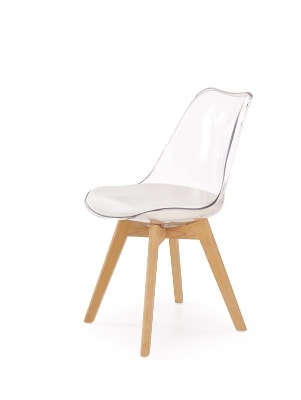 Krzesło K246 bezbarwne/buk