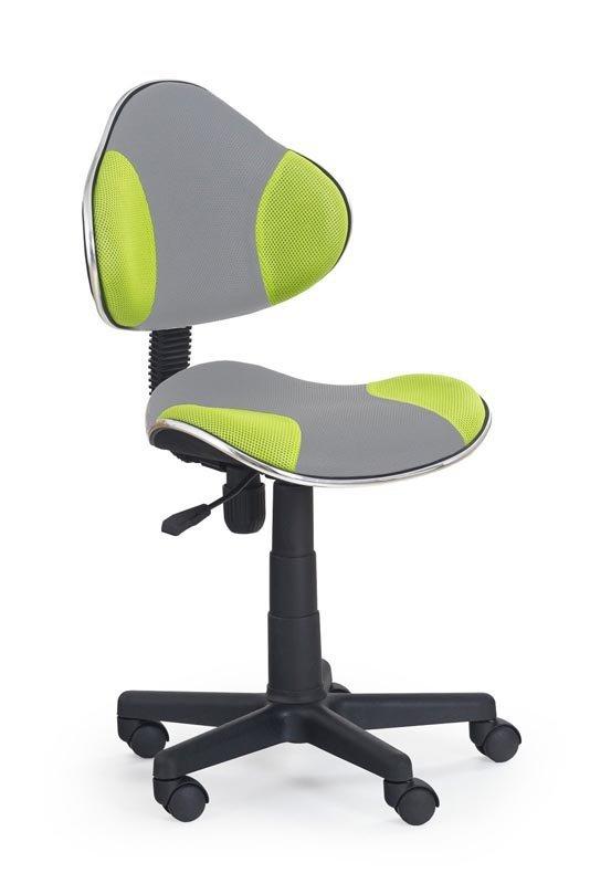 Fotel młodzieżowy FLASH 2 szaro-zielony