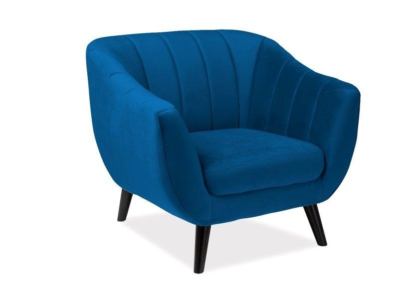 Fotel ELITE granatowy/wenge