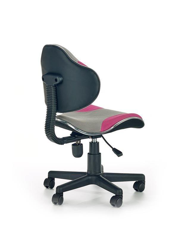 Fotel młodzieżowy FLASH 2 szaro-różowy