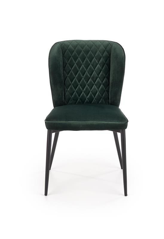 Krzesło K399 VELVET ciemno zielone