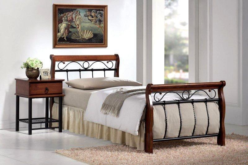 Łóżko VENECJA BIS 90x200 czereśnia antyczna