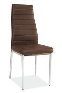 Krzesło H261 brązowe/chrom