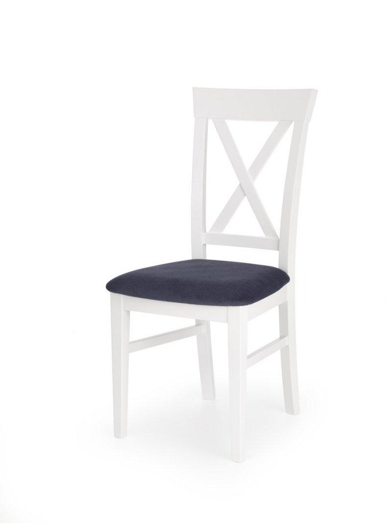 Krzesło BERGAMO biało-granatowe