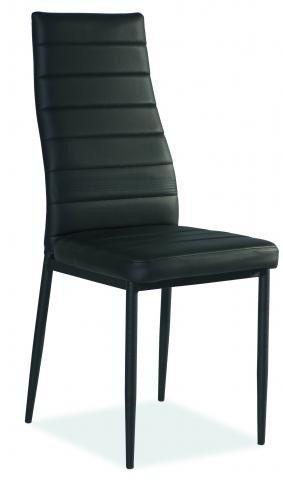 Krzesło H261 c czarno/czarne