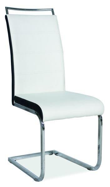 Krzesło H441 biało-czarne