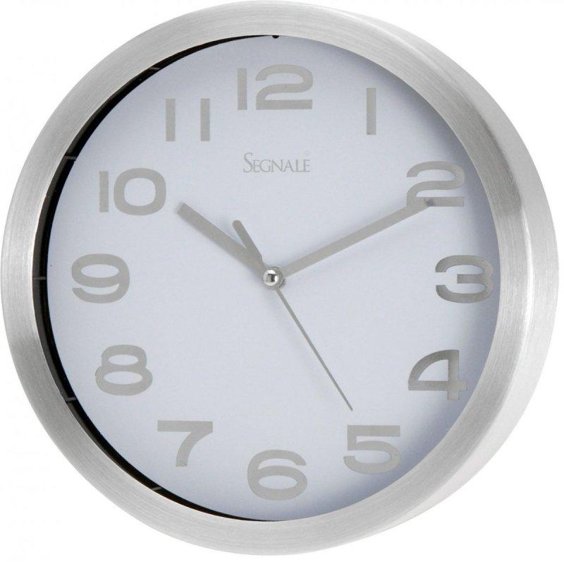 Zegar wiszący Ago chrom/biały