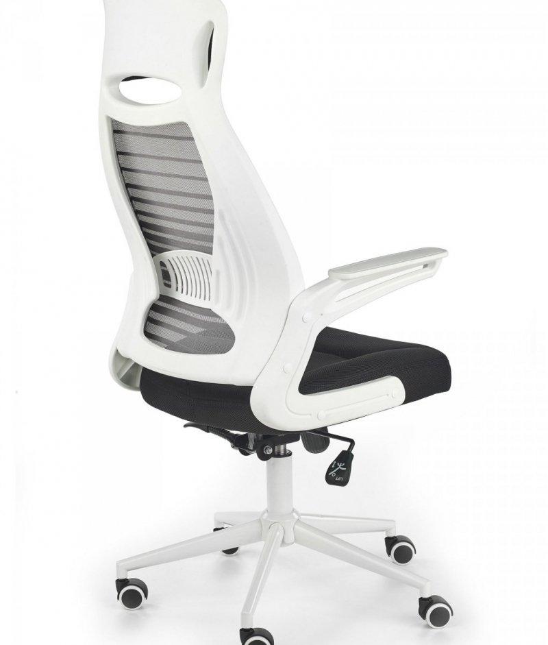 Fotel biurowy FRANKLIN czarno-popielato-biały